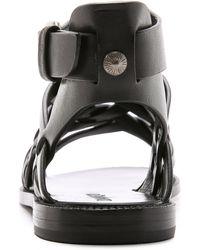 DANNIJO - Kallie Hurache Sandals - Black - Lyst