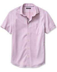 Banana Republic Tailored Slim-Fit Non-Iron Pique Short-Sleeve Shirt - Lyst