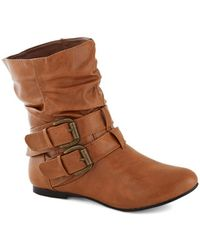Shoe Magnate Inc Spruce Up Your Style Boot in Caramel - Lyst