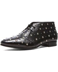 Saint Laurent Lulu Studded Desert Leather Boots - Lyst