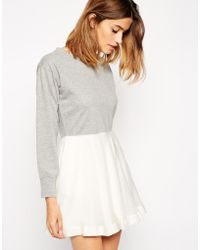 Paul & Joe Sister Sweatshirt Dress with Organza Bottom - Lyst