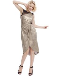 ABS By Allen Schwartz Leah Metallic Dress - Lyst