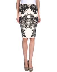 McQ by Alexander McQueen Knee Length Skirt - Lyst