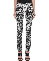 Diesel Snakeprint Skinny Midrise Jeans Snake Print - Lyst