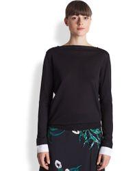 Marni Silk & Cotton Boatneck Pullover - Lyst