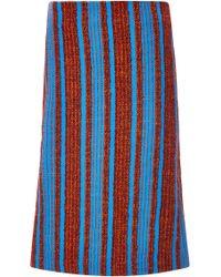 Thakoon   Wool Alpaca Bouclé Striped Skirt   Lyst