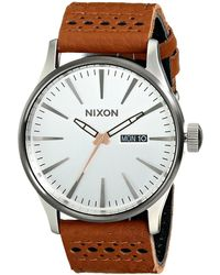 Nixon The Sentry Leather - The Brass Tacks Collection - Lyst