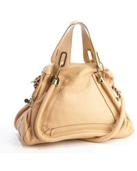 Chloé Blonde Chestnut Leather Paraty Convertible Satchel - Lyst