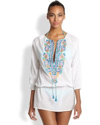 OndadeMar Bengal Embroidered Cotton Tunic - Lyst