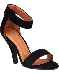 Jeffrey Campbell Hough Sandal Black Suede - Lyst