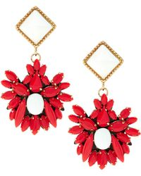 Maiocci Collection - Meras Red Hand Made Earrings - Lyst