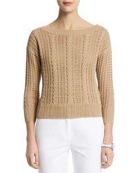 Anne Klein Textured Knit Pullover - Lyst