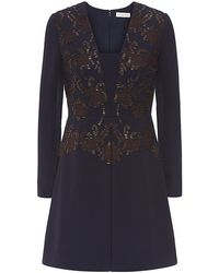 Tory Burch Blue Connie Dress - Lyst