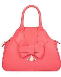 Vivienne Westwood Yasmine Leather Bow Tote Bag - For Women - Lyst
