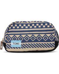 TOMS Indigo Ikat Traveler Cosmetic