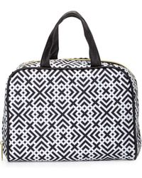 Adrienne Vittadini - Geometric-print Three-piece Cosmetic Bag Set - Lyst