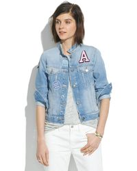 Madewell The Jean Jacket Patchwork Edition - Lyst