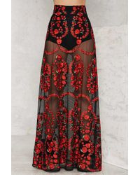 Nasty Gal | Sworn To Secrecy Embroidered Skirt | Lyst