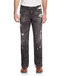 True Religion Ricky Shadow-wash Straight-leg Jeans - Lyst