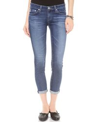 AG Adriano Goldschmied Stilt Cigarette Roll Up Jeans - Lyst