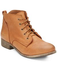 Steve Madden Rubin Leather Ankle Boots - Lyst