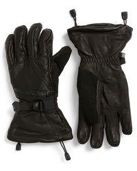 Spyder - 'ultraweb' Leather Ski Gloves - Lyst