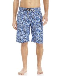 Fendi Camouflage Print Swim Trunks - Lyst