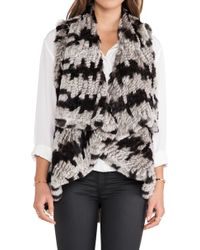 Alice + Olivia India Real Rabbit Fur Cascade Vest - Lyst
