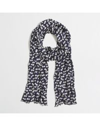 J.Crew Factory Printed Tissue Scarf - Lyst