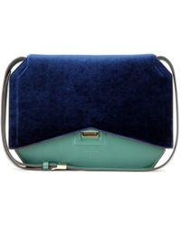 Givenchy - New Line Velvet and Leather Shoulder Bag - Lyst