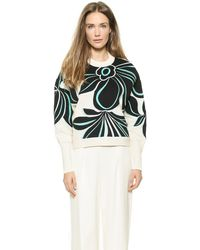 3.1 Phillip Lim Floral Embroidered Pullover - Ivoryblack - Lyst