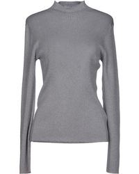 St. John Gray Turtleneck - Lyst