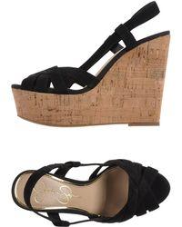 Jessica Simpson Black Sandals - Lyst