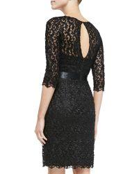 Liancarlo - V-neck Lace Cocktail Dress - Lyst
