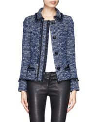 St. John Metallic Bouclé Knit Box Jacket - Lyst