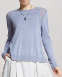 Halston Heritage Sweater - Chiffon Inset - Lyst