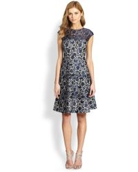 Kay Unger Lace Fit-&-Flare Dress - Lyst