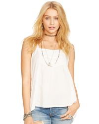 Denim & Supply Ralph Lauren Lace-Trim Tank Top - Lyst