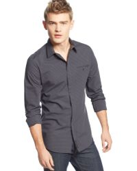 Calvin Klein Jeans Gray Check Shirt - Lyst