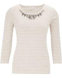 Cc | Jewel Necklace Stripe Jersey Top | Lyst