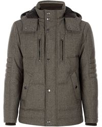 Boss Black Quilted Down Jacket - Lyst