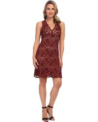 Karen Kane Sleeveless Lace Dress - Lyst