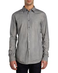 John Varvatos Stone Wash Shirt - Lyst