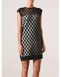 Costume National Panna Dotted Sheer Dress - Lyst