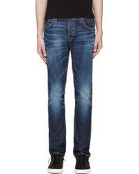 Nudie Jeans Blue Grim Tim Jeans - Lyst