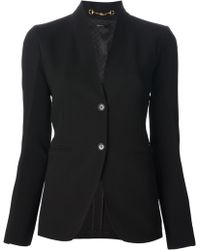 Gucci Black Stylised Blazer - Lyst