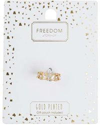 TOPSHOP - Gold Plated Wide Band Ring - Lyst