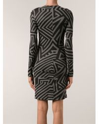Gareth Pugh Geometric Print Dress - Lyst