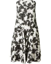 Thakoon Mixed Silk And Cotton Jacquard Bustier Dress - Lyst