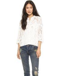 Spell - White Dove Vintage Lace Blouse White - Lyst
